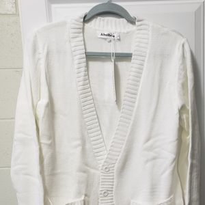 Cream  button cardigan